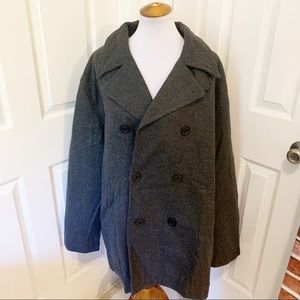 NWT Old navy gray wool double breasted coat xxl